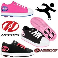 New Heelys X2 Fresh Kids Wheelie Trainers Girls Roller Skate Shoes Pink Black