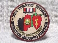 US ARMY 25TH INFANTRY DIVISION OPERATION ENDURING FREEDOM PATCH