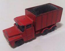 Husky Guy Warrior Red Truck Vintage Diecast Vehicle - NICE