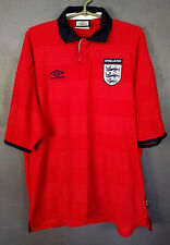 VINTAGE UMBRO ENGLAND NATIONAL 1999/2001 FOOTBALL SOCCER SHIRT JERSEY SIZE XL
