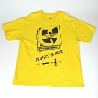 Wu Tang Clan T Shirt Official Protect Ya Neck XL Extra Large Yellow Made in USA