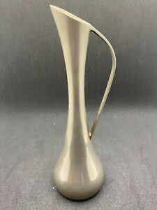 """Vintage Metal Bud Vase Pitcher Design 7"""""""