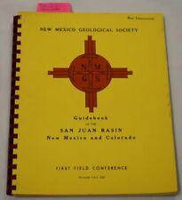 Guide book San Juan Basin New Mexico Utah Colorado Oil Gas Petroleum Geology