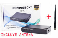satélite TV receptor Full HD iBRAVEBOX V8 HD DVB-S2 con USB WIFI antena