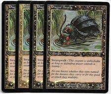 Magic MTG - Plague Beetle x4 (FOIL) - 7th Seventh Edition - VG-EX