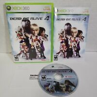 Dead or Alive 4 - 2005 Xbox 360 CIB Complete - Tecmo Game with Art Case Manual
