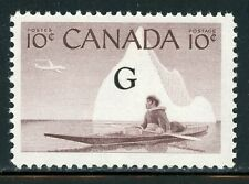 "Canada Mnh Back of Book: Scott #O39a 10c Violet Brown ""G"" $"