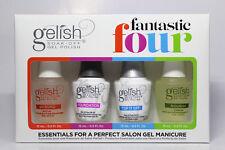 Gelish Fantastic 4 Nail Gel Soak Off - Base, Top, pH Bond, Nourish 0.5 oz 4 pc