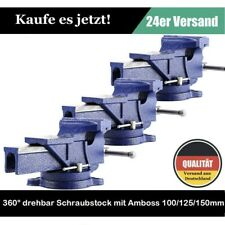 Schraubstock Parallel 100 125 150 mm Amboss für Werkbank drehbar Teller 360° DHL