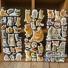 3pcs puffy pet cat PVC stickers lot children Stereoscopic toys  kids Xmas gift