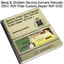 Bang & Olufsen Service Manuals Schematics Audiophile Electronic Repair PDF CD !!