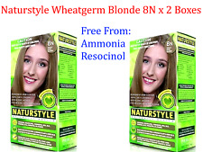 2 x NATURTINT Naturstyle Permanent Hair Colourant / Colour - WHEATGERM BLONDE 8N