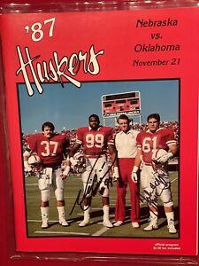 Autographed Nebraska Program 1987 Neil Smith John McCormick Signed Huskers Ftbl