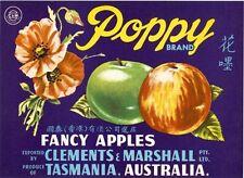 Vintage Tasmanian Australian Apple Case Labels Fruit Wall Art Poster-B set (12)