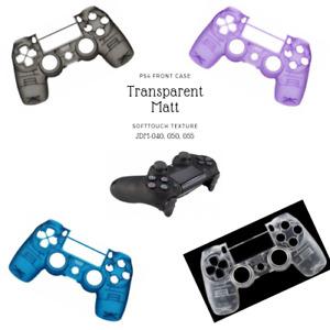 PS4 Controller Gehaeuse Oberschale Softtouch Matt Transparent Modding Slim & Pro