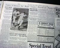JIM TOBIN Braves Pitcher 3 HOME RUNS in 1 Game 1st & Only 1942 WWII Newspaper