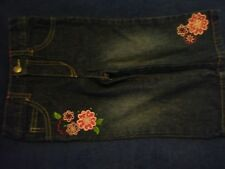 Faded Glory jeans blue embroidered flowers pants girl infant toddler 18 month