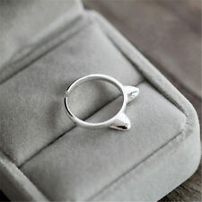 Animal Cat Ear Finger Opening Ring Silver Plated Jewelry Gift Decoration