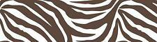 Brown and White Zebra Peel & Stick Wall Pops 16 FT Wallpaper Border WPS93858