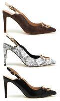 GATTINONI SCILLA scarpe donna sandali decollete decolte pelle tacco gioiello