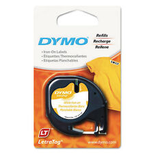 "DYMO LetraTag Fabric Iron-On Labels 1/2"" x 6 1/2 ft White 18771"