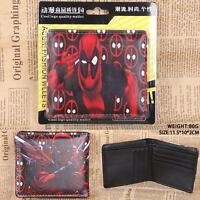 Stylish NEW Marvel Comic Deadpool Mutli Logos Eyes Folding Arms Bi Fold Wallet
