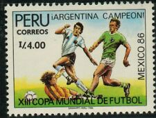 Peru 1986 Soccer World Cup Soccer Mexico´86 MNH (A498)