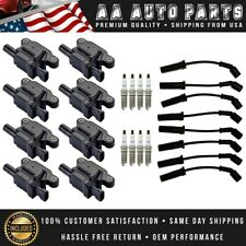 Ignition Coil & AcDelco Iridium Spark Plug & WireSet For GMC Cadillac Chevy