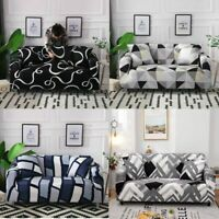 1/2/3/4 Seater Stretch Sofa Covers Chair Couch Elastic Slipcover Protector Fit