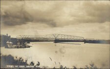 Marietta OH Bridge in Distance c1905 Real Photo Postcard