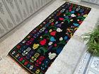Vintage Handmade Moroccan Rug Beni Ourain Wool Rug  Azilal Berber Runner