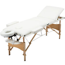 "84""L 3 Fold Portable Massage Table Facial Spa Bed Sheet +Cradle+Hanger"