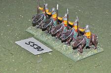 25mm medieval mounted sergeants 5 cavalry (5530) metal painted