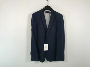 "Men's ASOS Design Super Skinny Wedding Suit Jacket, Size US 34"" Chest- Blue"