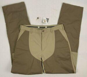 "ll bean teflon brush upland field pants 34 x 36.5"" unhemmmed nwt *stains"