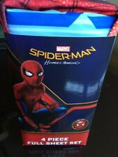 Spiderman Full sheet set 4 piece Brand New