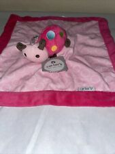 Carters Lady Bug Security Blanket  Pink  Blankie Lovey NWT