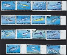 BRITISH VIRGIN ISLANDS:1997 Game Fishes definitive set SG943-57 MNH
