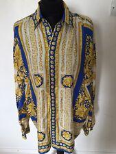 Vintage Versace Silk Shirt Large - Ayda Robbie Williams Style