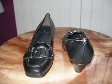 REBAJAS talla nº 41 piel preciosos zapato chica mujer piel hebillas negros