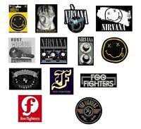 NIRVANA / FOO FIGHTERS / KURT COBAIN -  OFFICIAL STICKER vinyl adhesive stickers