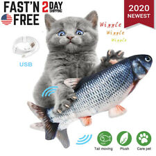 Electric Realistic Interactive Fish Cat Crazy Dancing Pet Toy Usb Catnip Toys Us