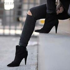 Zara High Heel (3-4.5 in.) Faux Suede Boots for Women