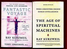 2 Ray Kurzweil books : Fantastic Voyage & Age of Spiritual Machines - Free Ship