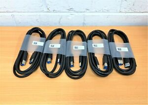 Bulk 5 x USB 3.0 Type A To B 1.8m Cables 5KL2E04505 Brand New (Dell)