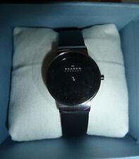 Skagen Damen-Uhren 358SSLB, schwarze Damenuhr