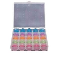 25 x Sewing Machine Bobbins Spool Plastic For Brother Janome Singer with Box