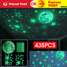 435PCS Wall Stickers Luminous Stars Moon Planet Decal Glow In The Dark Kids Room