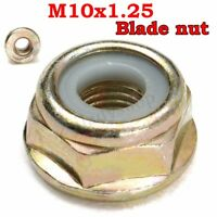 M10x1.25 Left Handed Thread Blade Nut For Various Strimmer Brush Cutter Trimmer