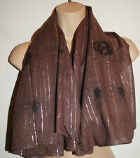 New Lurex Shimmer & Cotton Scarf - Hippy Fairly Traded Ethnic India